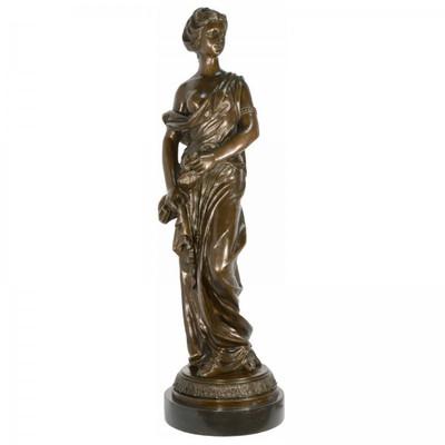 Frauen Figur Bronze Statue als große Statue für prachtvolle Terrassen Dekoration.