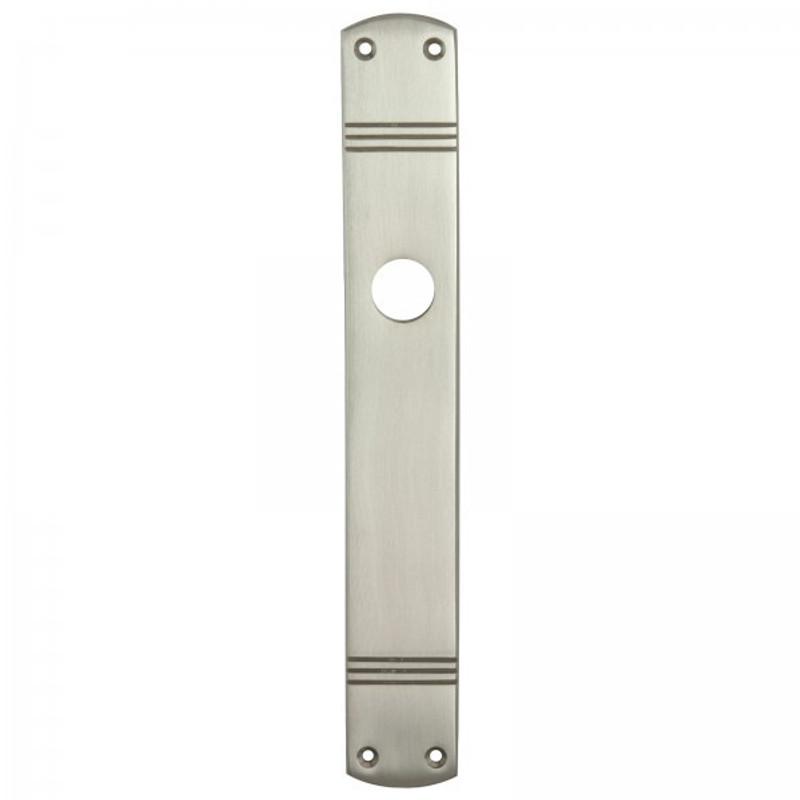 Langschild Türen Beschlag ohne Schlüsselloch als matter Beschlag blind.