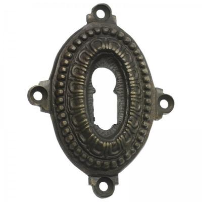 Retro Türschloss Rosette als Antik BB Schlüsselrosette für Buntbartschloss.