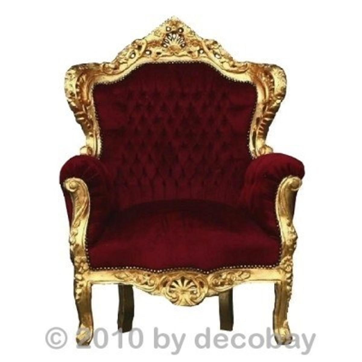 Wohnzimmermöbel Aus Holz Barock Sessel Sofa Antik SPARSET Rot Gold ANGEBOT  ...