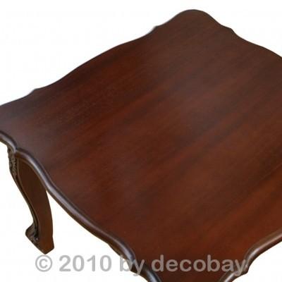 Mahagoni holz tisch  Couchtische Holz Antik Tisch quadratisch Mahagoni braun Barock ...