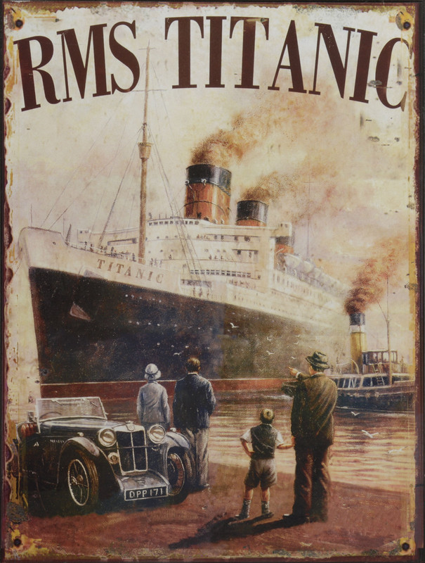 "Blechschild Retro-Style ""RMS Titanic"" - Dekoratives Metallschild"