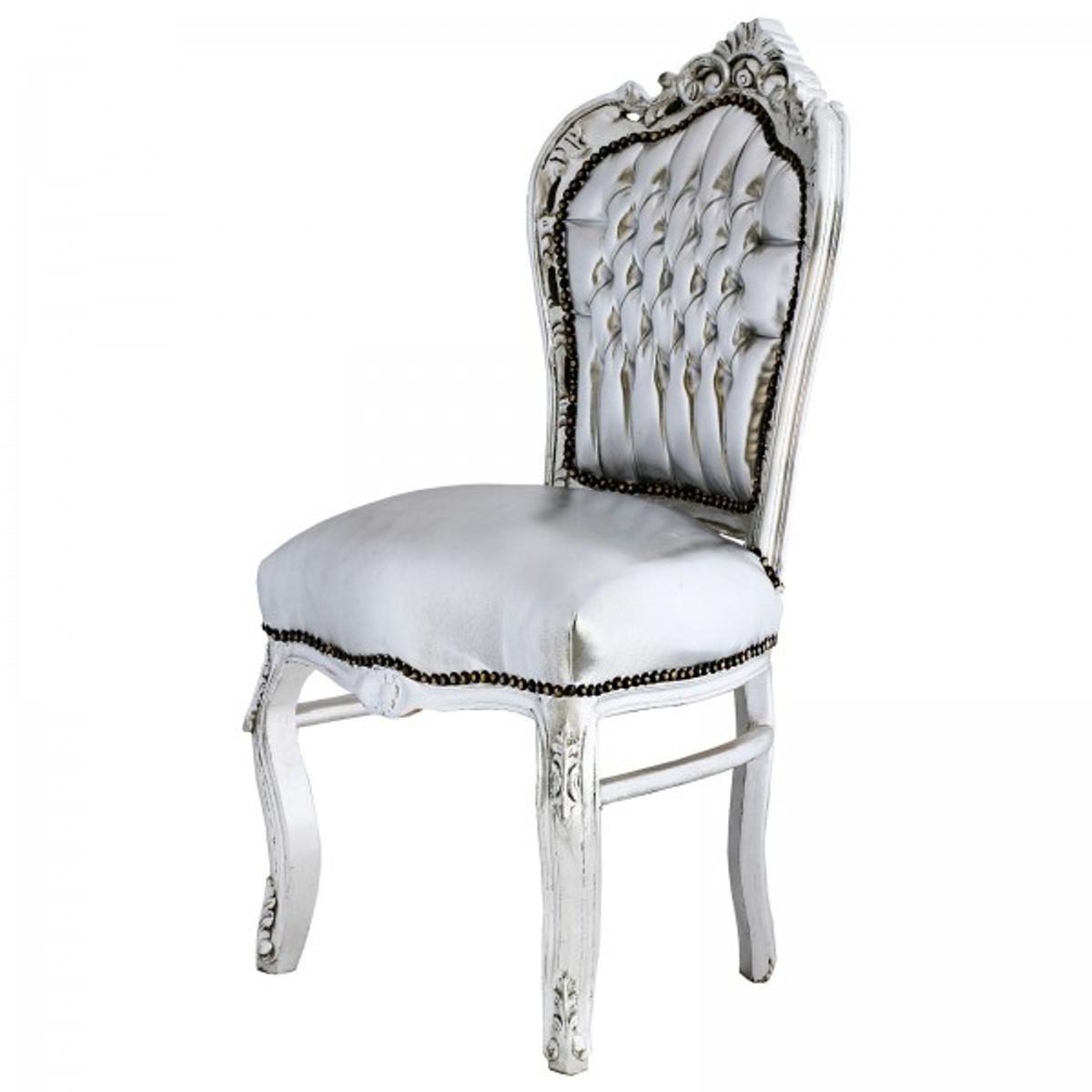 Paket Stuhl Set 6 Stuhle Esszimmer Barock Design In Silber