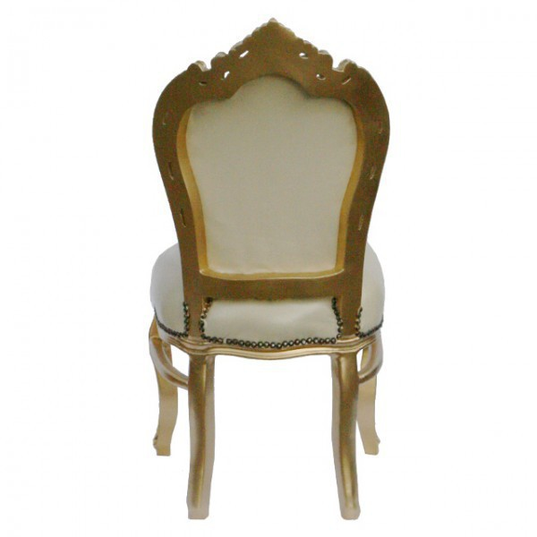 Lederstuhl esszimmer barock m bel retro st hle beige for Lederstuhl beige