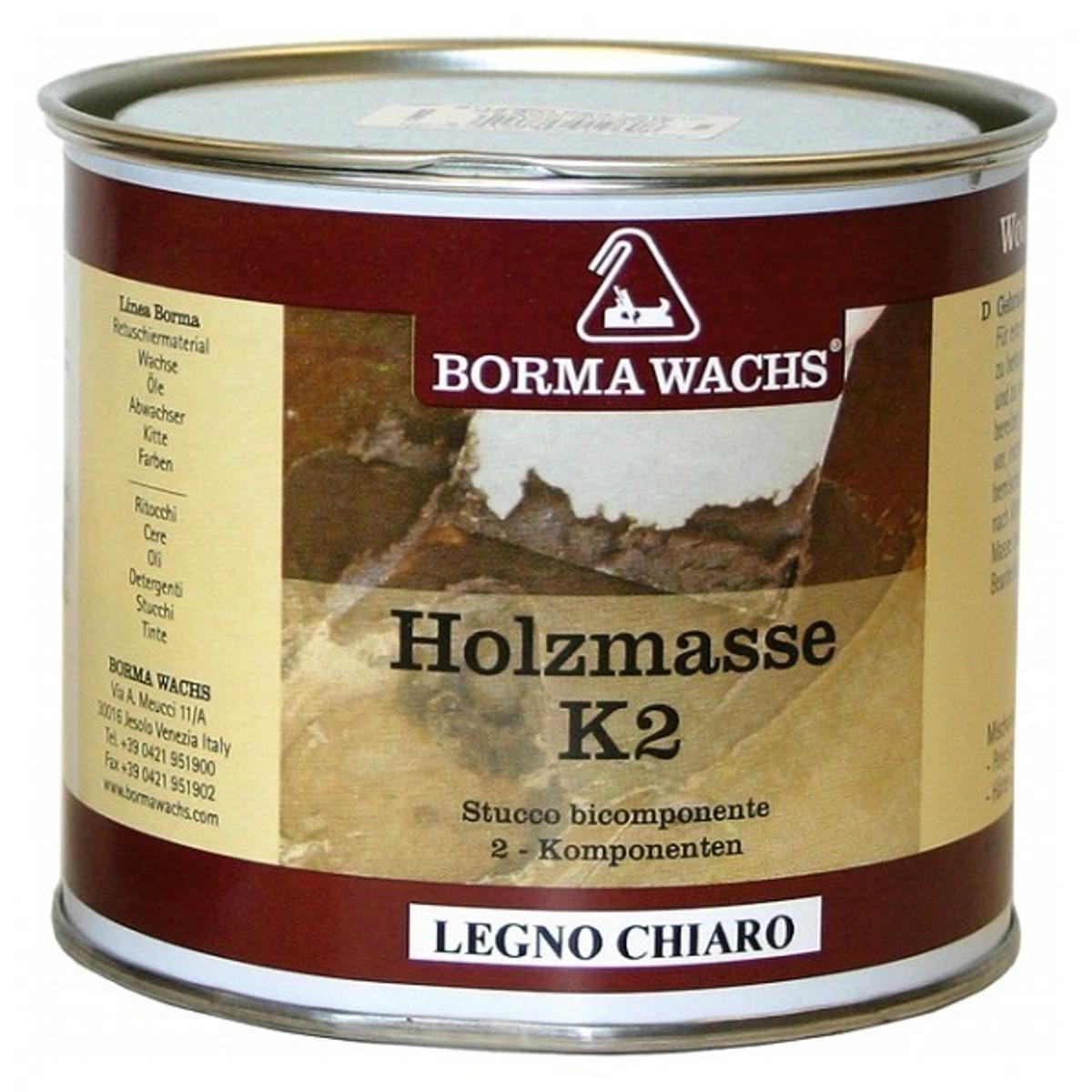 2 K Spachtel Eiche Holzkitt Holz Reparatur Spachtel für Eichenmöbel 750 ml von Borma