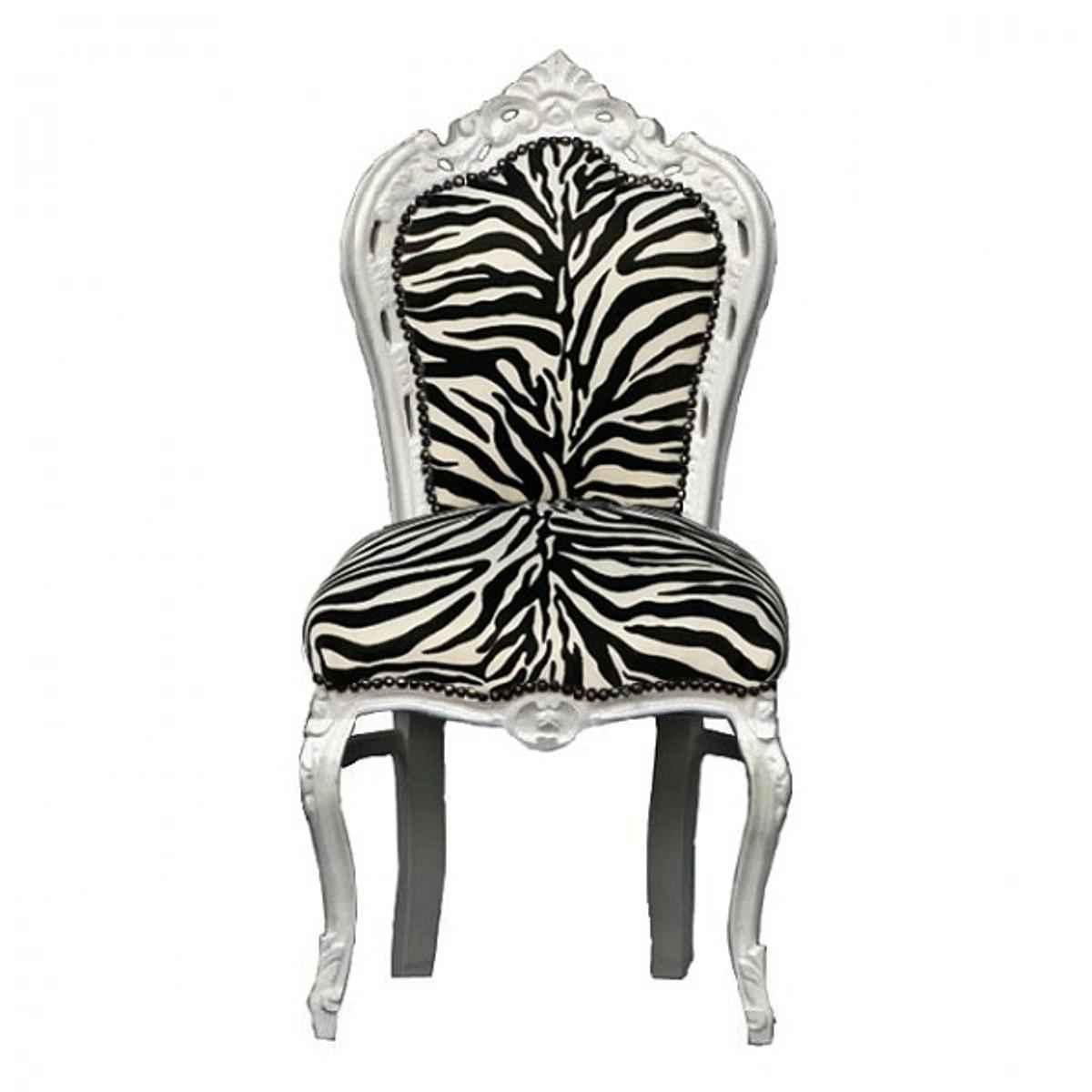 Zebra Muster Esszimmer Stuhl Barock Stil weiß Esstisch Barock Möbel ...
