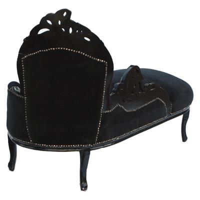 Kanapee Barock gothik antik Look schwarz Recamiere Sofa Ottomane
