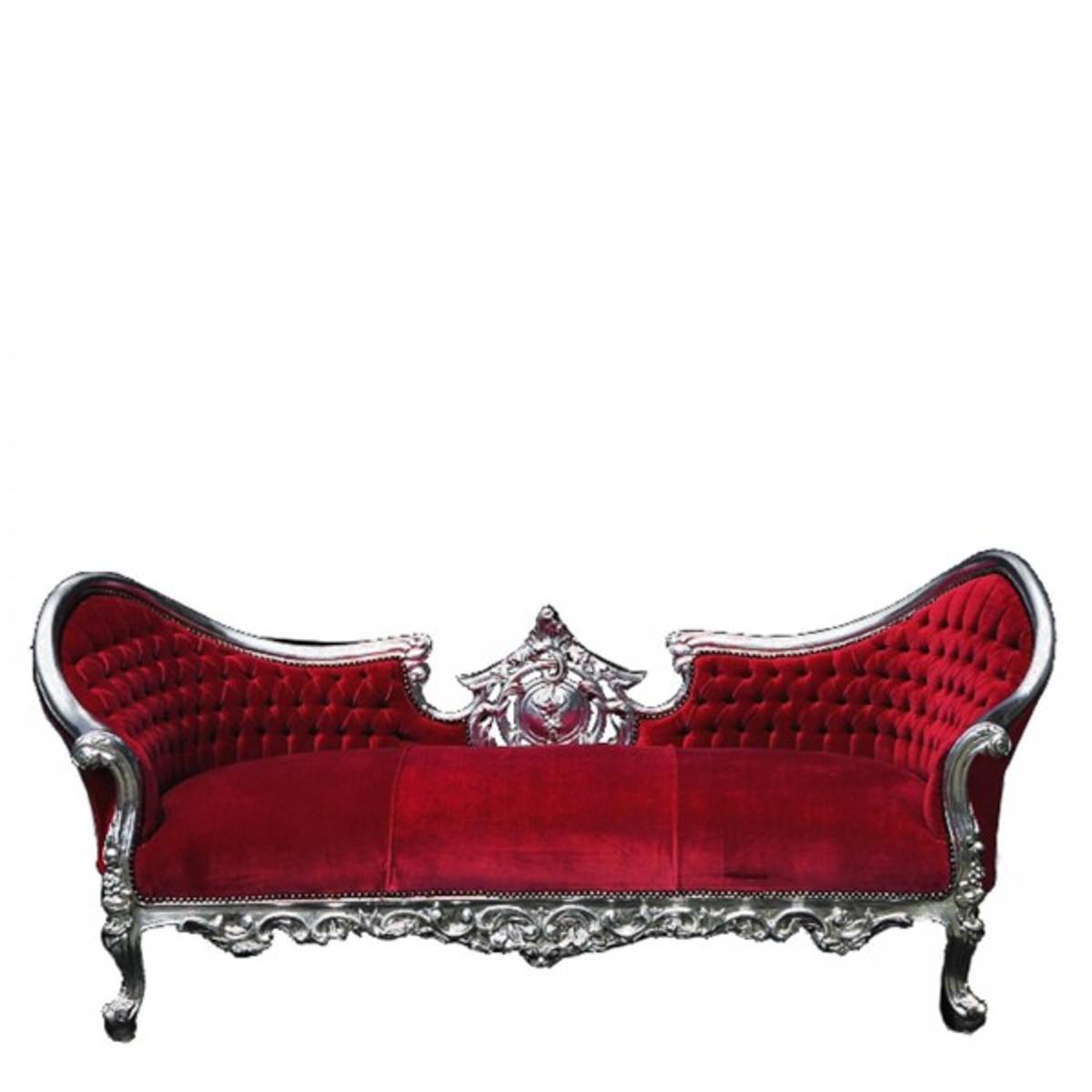 Sofa 3er barock Design bordeaux rot Blickfang Antik Barock Möbel ...