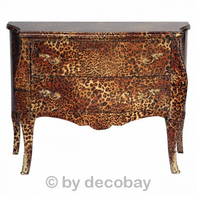 TV Schrank Möbel als Sideboard aus Massiv Holz Leopard Massiv Holz Hochglanz