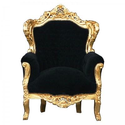 ANGEBOT Thron schwarz gold König Barock Sessel fürstlich Prunk