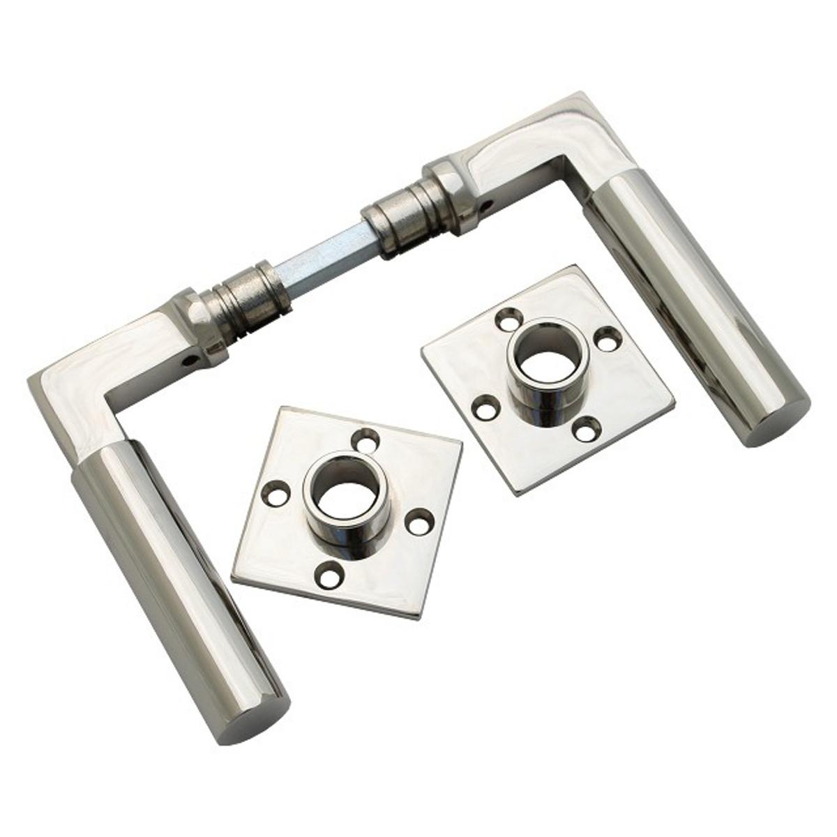 Design Türgriffe Tür Griffe Set mit Rosetten Beschlag Garnitur Hochwertig Nickel