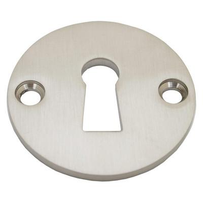 Buntbart Schlüssel Rosette einzeln Runde BB Schlüsselrosette aus Nickel Matt