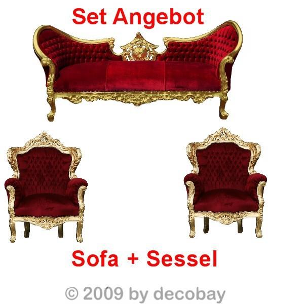 komfortable Sitzgruppe Sessel grün gelb rot