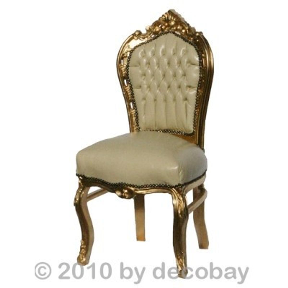 ... Ausgefallene Esstische Esszimmer Stühle Antik Unschlagbares Angebot  Beige Gold ...