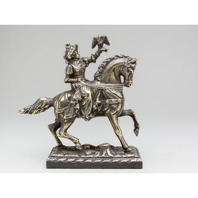 Reiterin ILA auf Pferd - Dekorative Figur 19cm