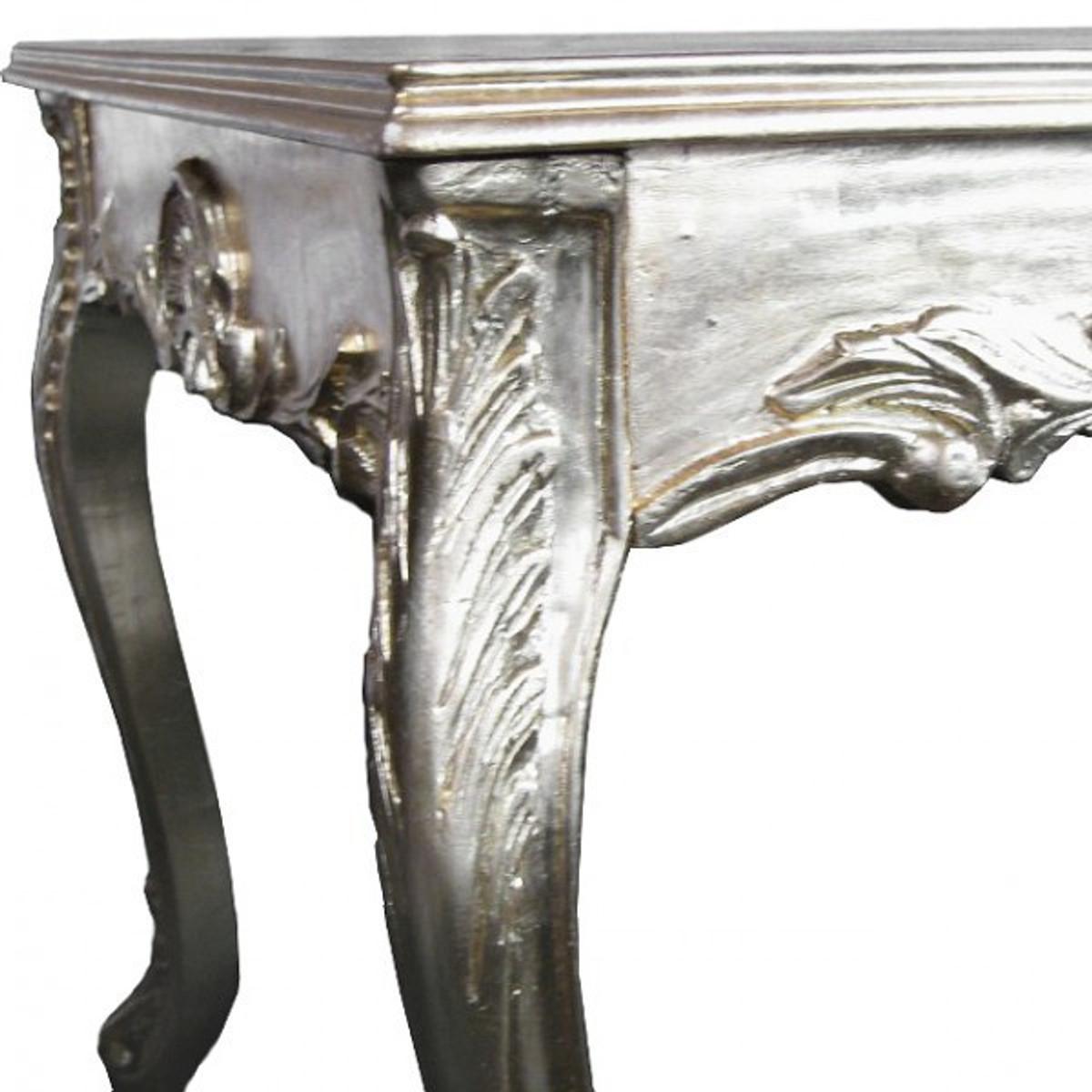 Exklusive Tische Esszimmer Möbel Barock Design 180 Cm Langer Esstisch  Silbern ...