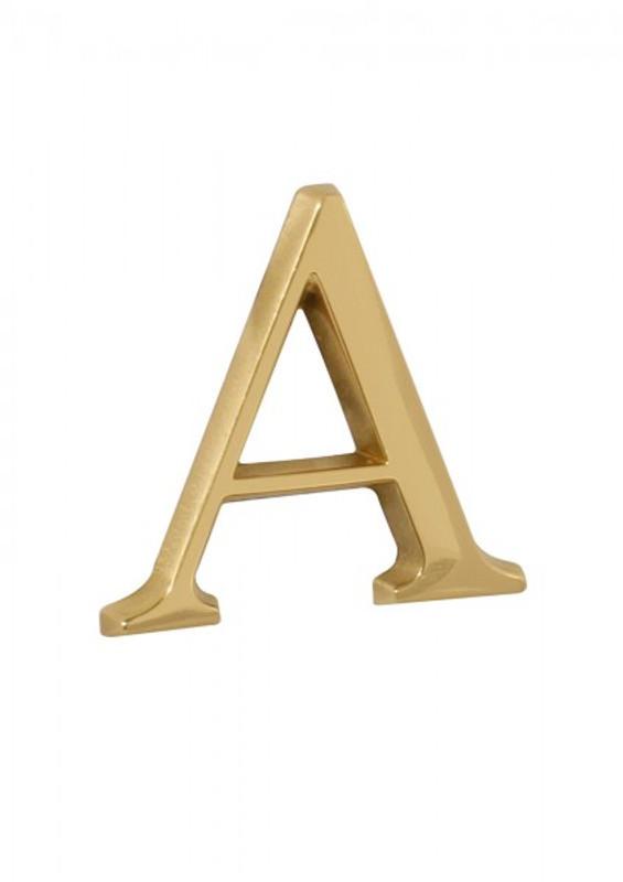 Hausbuchstabe A aus Messing poliert zur Ergänzung Ihrer Hausnummer kaufen.