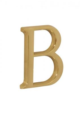 Hausbuchstabe B Messingschild als Großbuchstabe schlicht für Adresse und Gebäude.