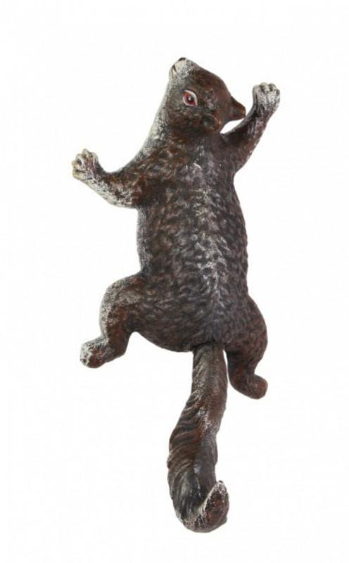 Eichhörnchen Figur aus Gusseisen als Nostalgie Tierfigur kaufen für Naturfreunde.
