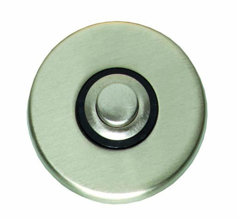 Türklingel Klingelknopf rund als eleganter Knopf für die Klingel matt vernickelt.