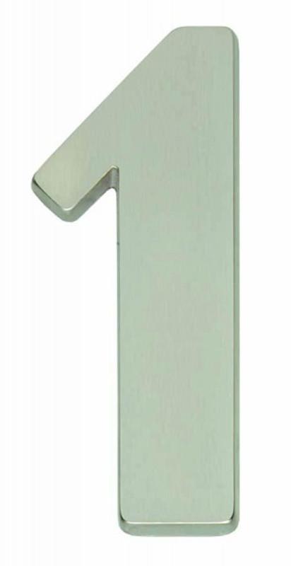 Haus Nummer 1 als Hausnummernschild matt und im Design schlicht kaufen als die 1.