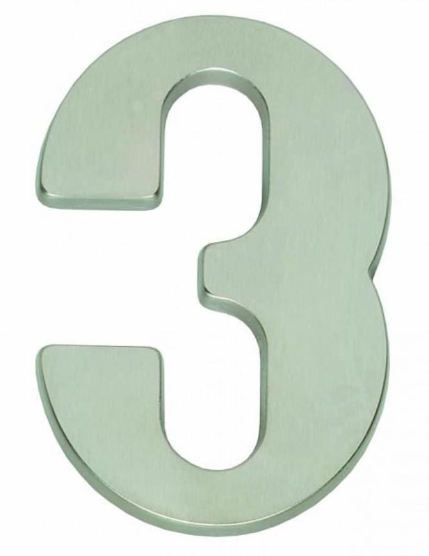 Hausnummer 3 für Haustür kaufen als schön schlichte Hausnummern modern.