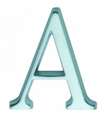Hausnummer Buchstabe A Kaufen und die Haus Nr. A anzeigen. Im schicken Chrom Design.