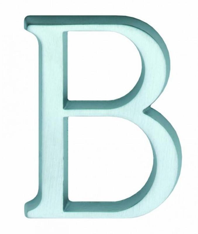 Hausnummer Buchstaben B als Haus Schild als Ergänzung zu Hausnummern kaufen.