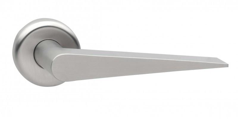 Edelstahl Klinken keilförmig als Zimmertür Griffe keilförmig im Türdrücker Set kaufen.