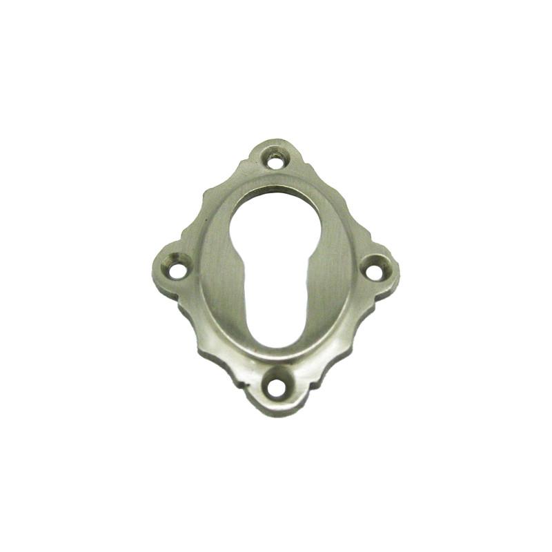 PZ Türen Rosette einzeln aus Nickel matt für Profilzylinder Schlösser in Türen an Haus und Garten.