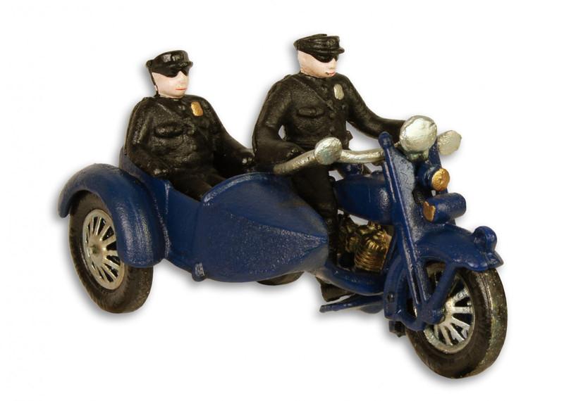 Deko Polizeimotorrad mit Beiwagen