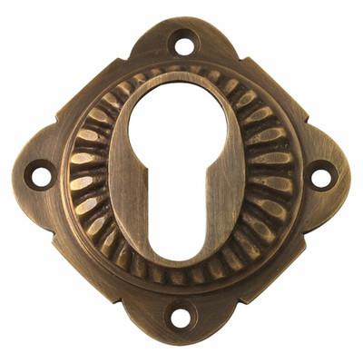 Messingrosette für Profilzylinder Türschloss zur Abdeckung an Ihrer Tür.