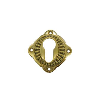 Profilzylinder Schlüsselrosette poliertes Messing für einen Messing Beschlag kaufen.