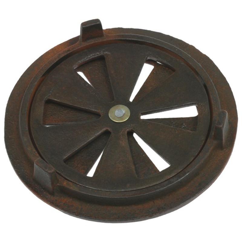 Lüftergitter aus Eisen antik kaufen als Eisenbeschlag mit Öffnung.
