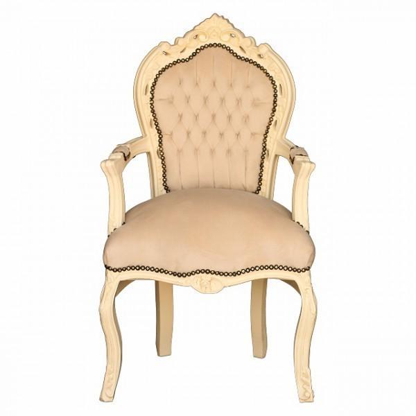 Esstischstuhl Mit Armlehne stuhlsessel beige barock design stuhl esstischstuhl mit armlehne