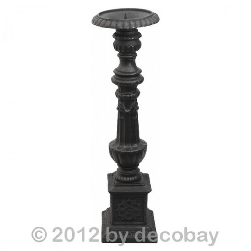 Garten Licht Kerzensäule Halter Eisen schwarz Kerzenständer Docht Kugel Kerzen