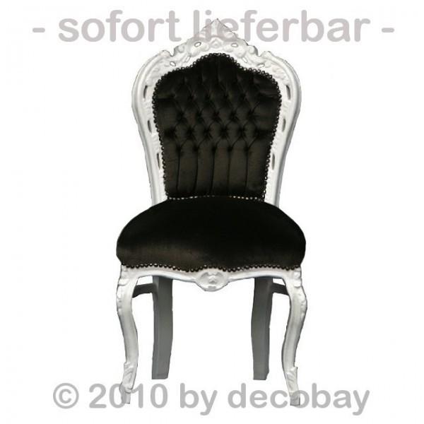 Antiker Stuhl Weiß Lackiert 2 Wahl Schaden Vorderes Bein Teilstück Raus