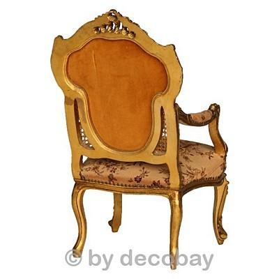 Alte Möbel Antiquitäten Barock Stuhl Armlehne 1 Sessel beige ...