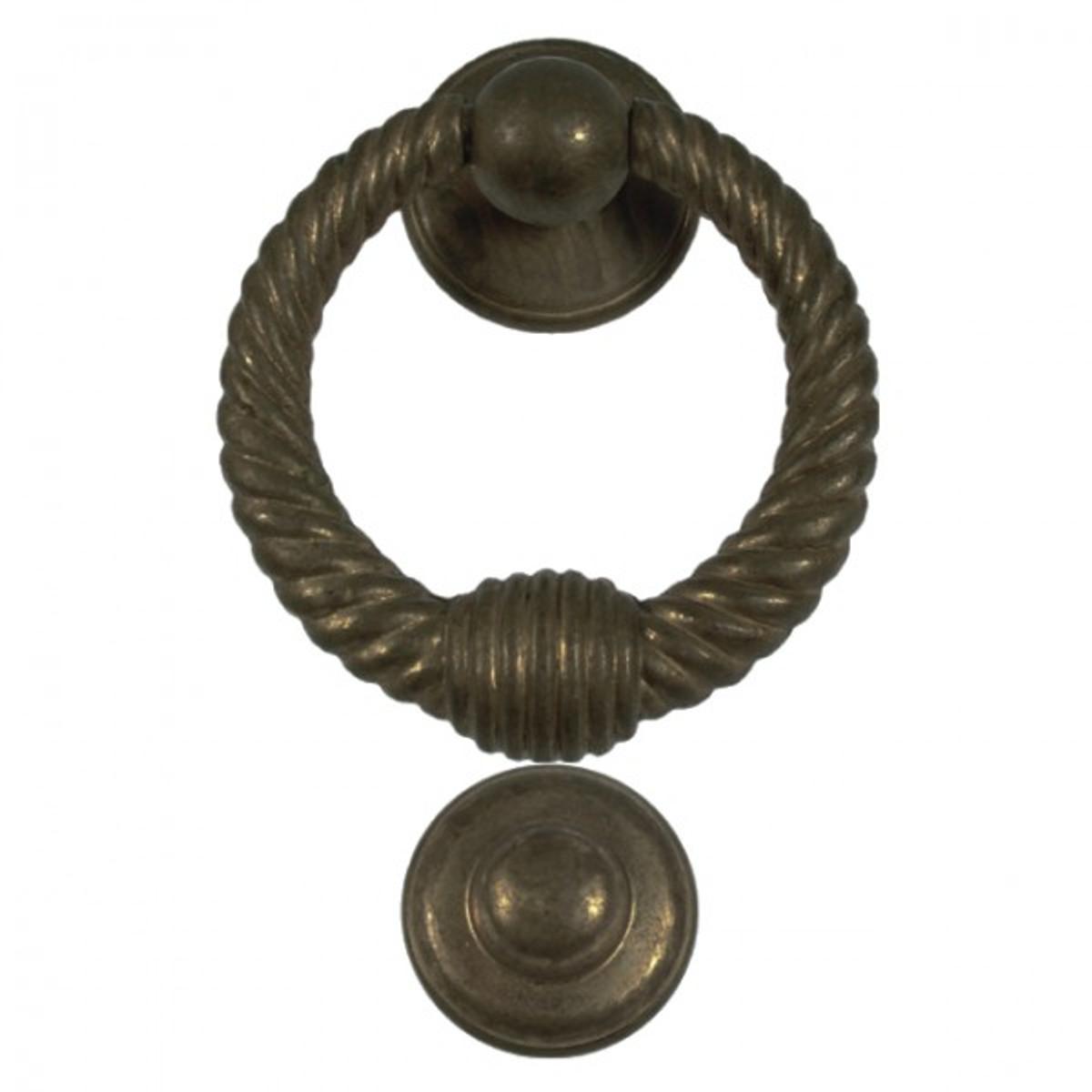 Haustür Beschlag Türklopfer Klingel in Seil Form. Lassen Sie Ihren Besuch an der Tür klopfen.