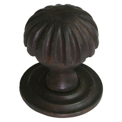 Möbelbeschläge Antik Türknauf Knopf Eisen. Hochwertiger Tür Knauf und nicht drehbarer Türöffner im nostalgischen Design.