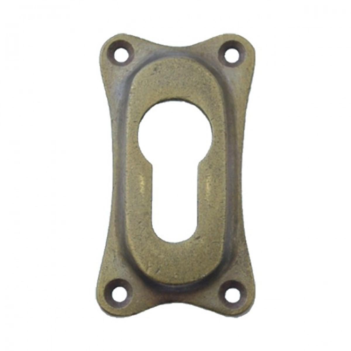 PZ Schließzylinder Abdeckung Rosette aus Messing für Ihre Tür. Hochwertige Profilzylinder Rosette im Antik Look