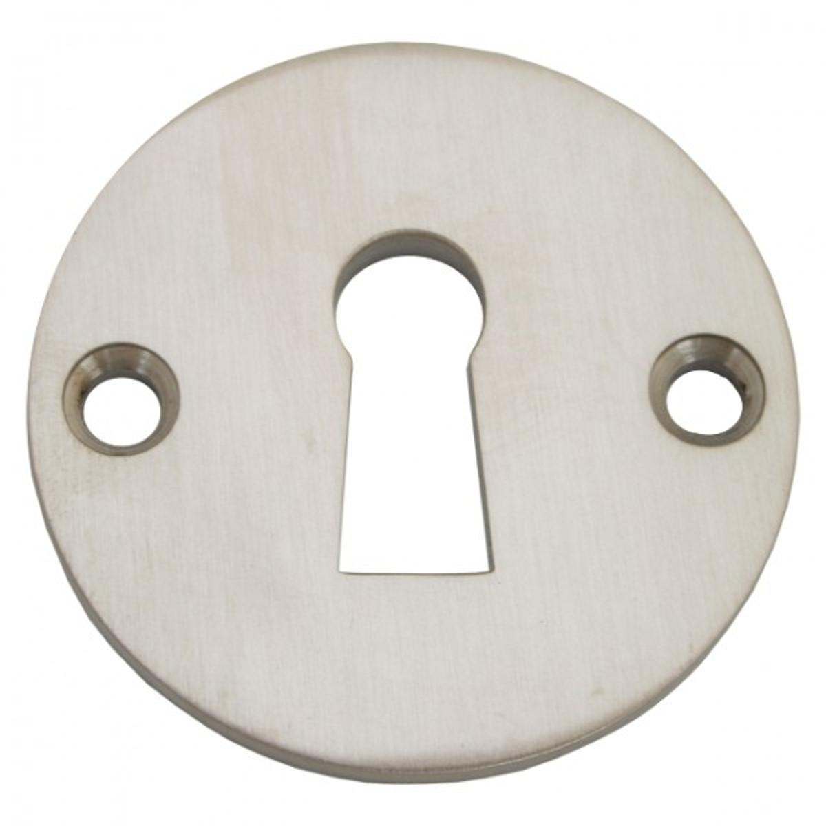 Buntbart Schlüssel Rosette aus Nickel matt. Jetzt einzeln kaufen für Türbeschlag.