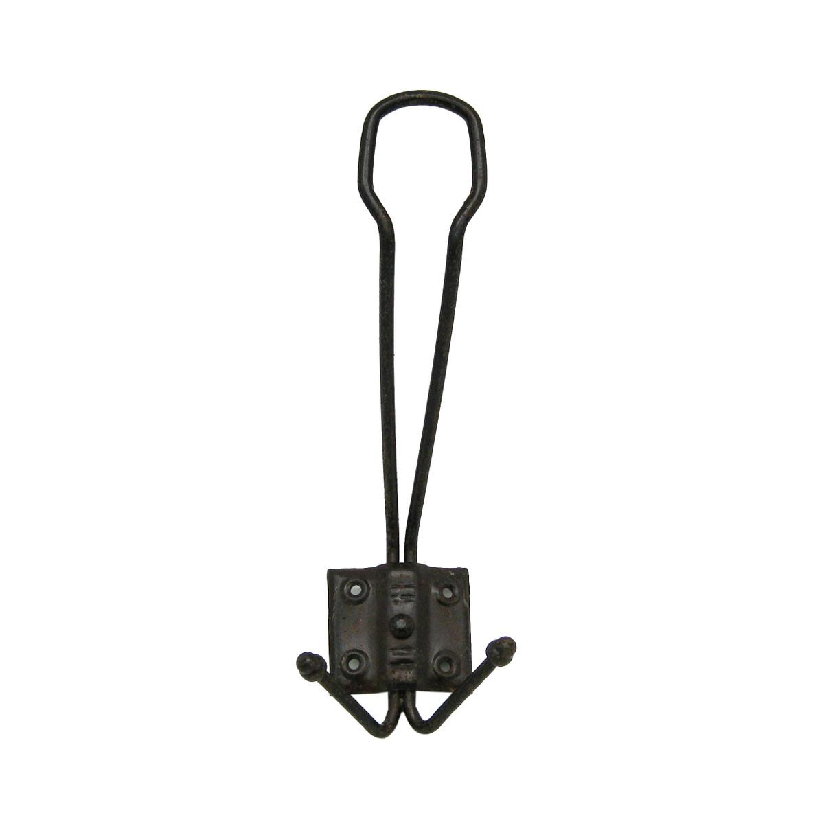 Kompaktgarderobe mit Metall Halter als nostalgischer Garderobenhaken mit Eisen Haken.