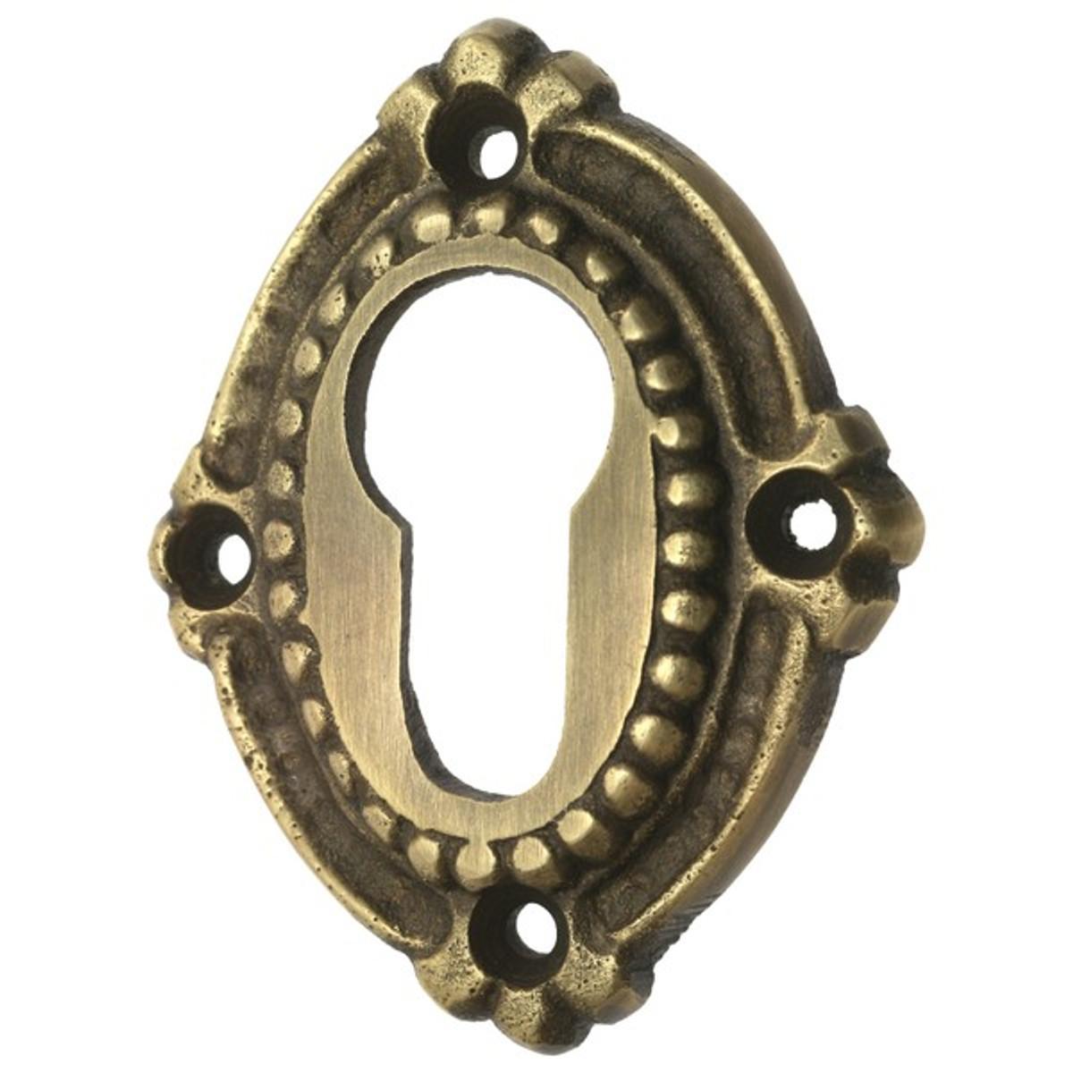 PZ Schlüsselrosette Profilzylinder Messing patiniert Tür Zubehör Eisenwaren