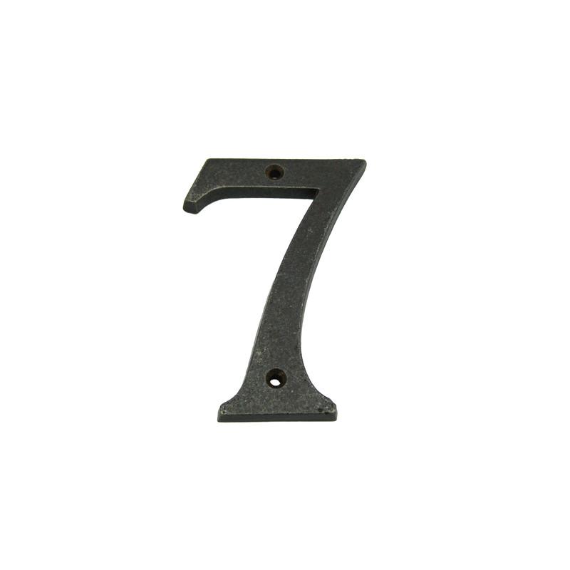 Nummer 7 Eisen Antik zur Kennzeichnung Ihres Hauses mit einer Nummer in schlichtem Design.