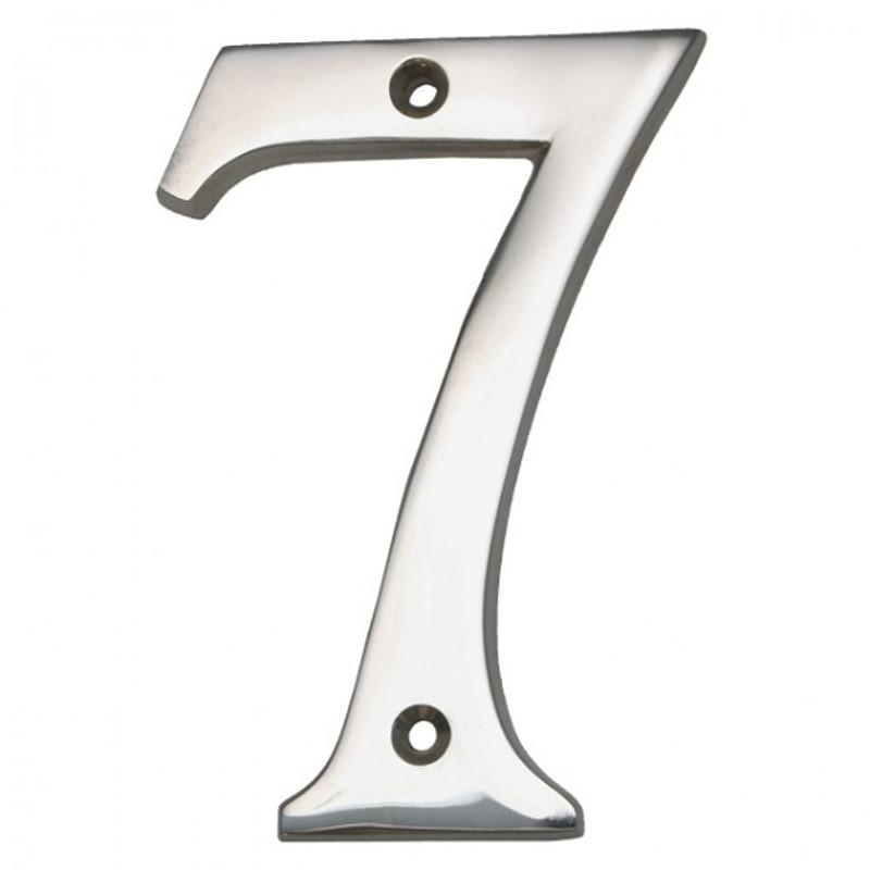 Haus Nummer No 7 Nickel bei uns bestellen, wenn Sie Ihr Haus zeitlos kennzeichnen wollen.