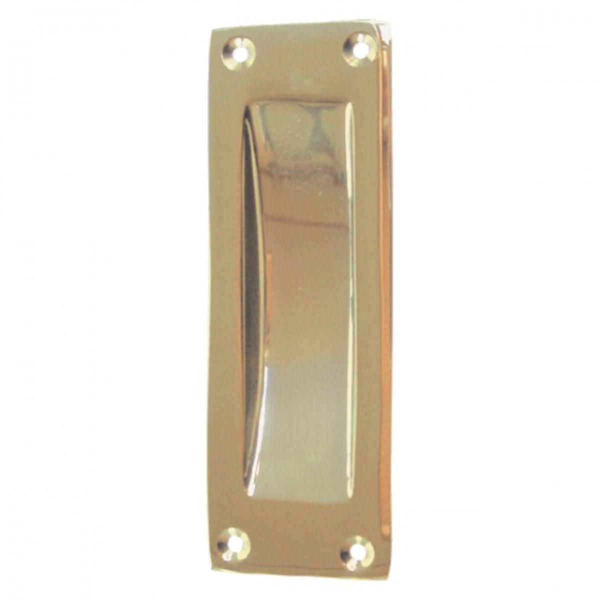 Beschlag Schiebetür schlicht rechteckig aus Messing als eleganter und zeitloser Türbeschlag für Ihre Türen.