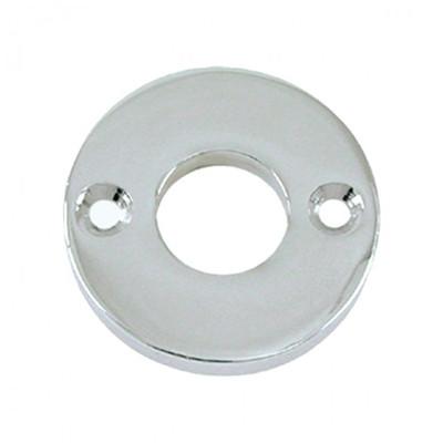 Beschläge Türgriffe Türknauf Rosette schlicht rund aus glänzendem Nickel gefertigt. Türdrücker Rosette als Veredelung.