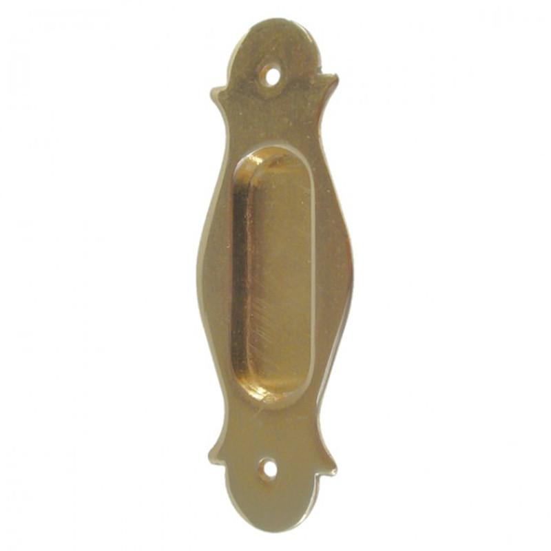 Schiebetüren Muschel / Mulde / Griff Messing poliert glatte Optik. Beschlag / Zubehör für Holztüren, Fenster, Türen
