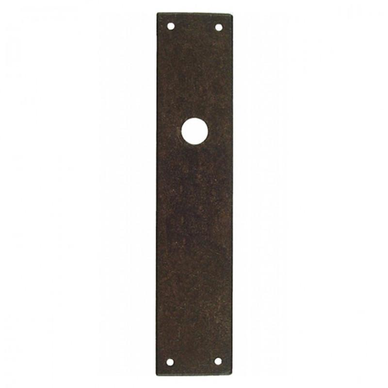 Türbeschlag Langschild Rosette Türschloss Schlüsselloch blind. Individuell anpassbares Langschild aus Eisen Antik.